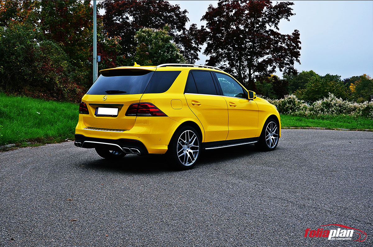 Mercedes-Benz GLE Gelb folierung foliaplan