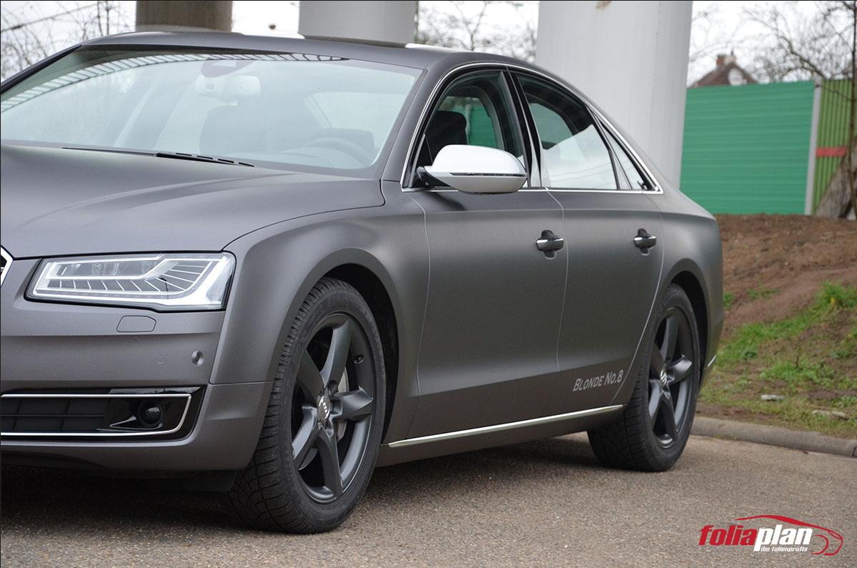 Audi A6 Grau Matt folierung foliaplan