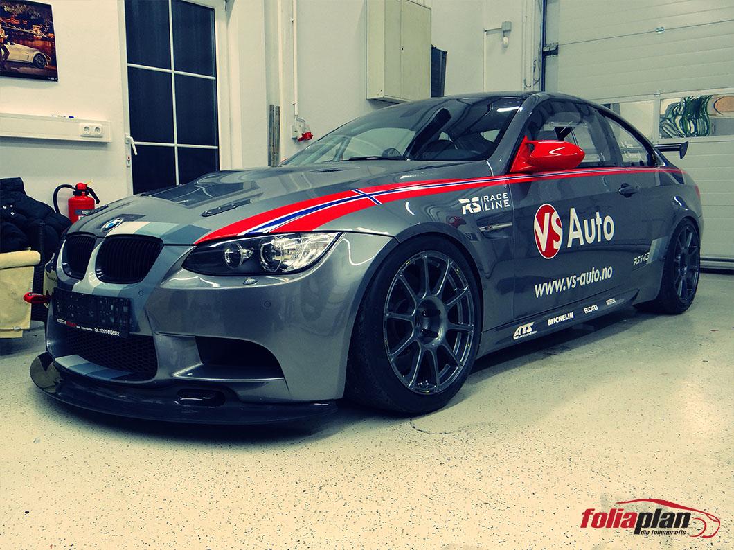 BMW M3 Sport folierung foliaplan