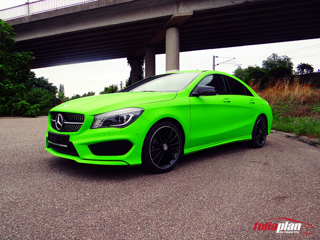 Mercedes-Benz CLA Grün Matt folierung foliaplan