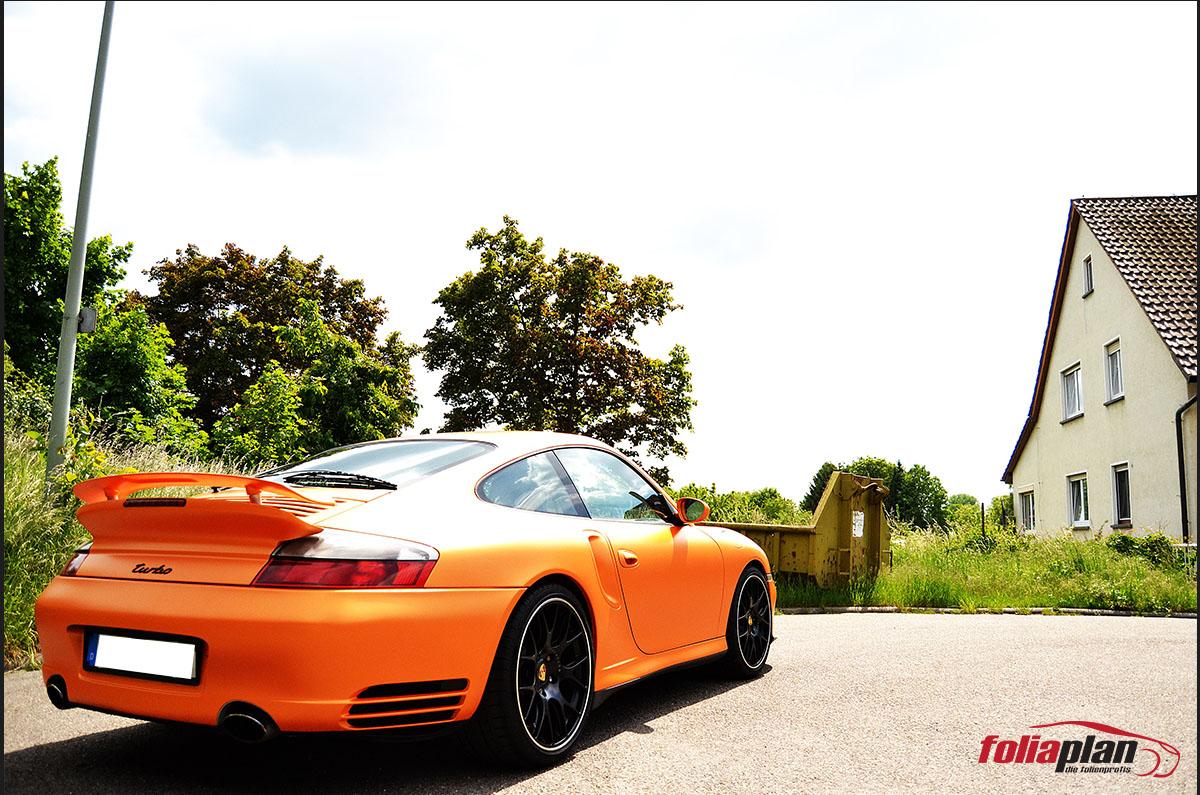 Porsche Matt Sunrise Metallic folierung foliaplan
