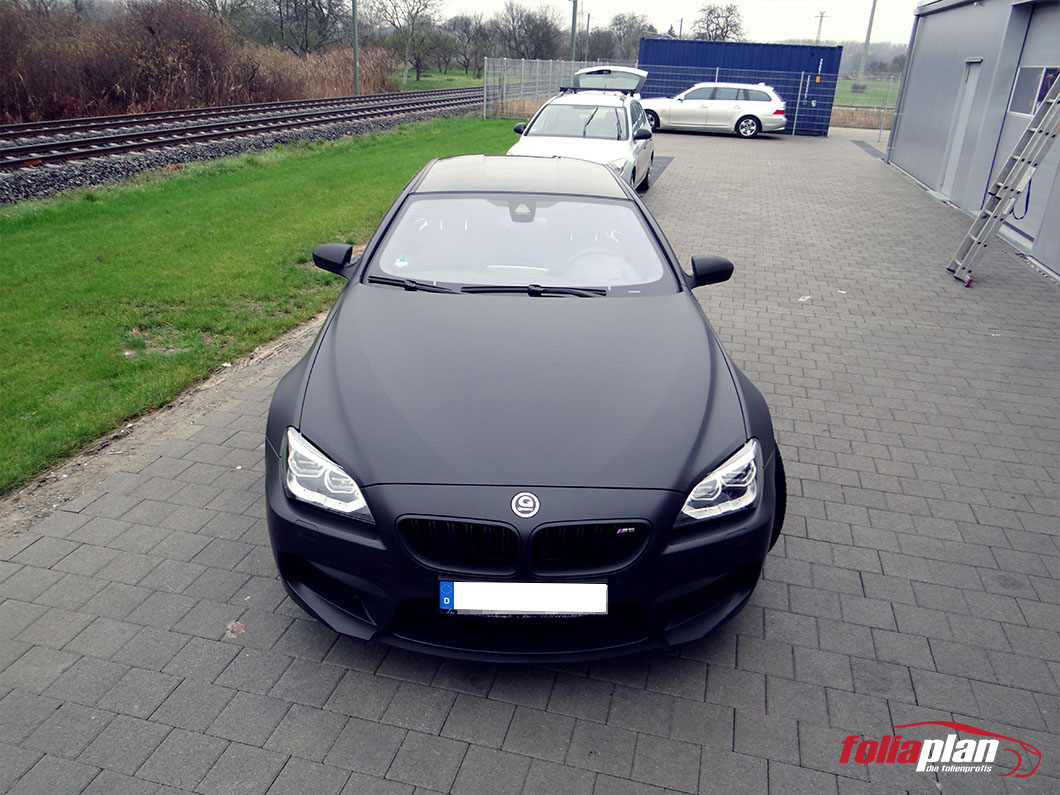 BMW M6 Schwarz Matt folierung foliaplan
