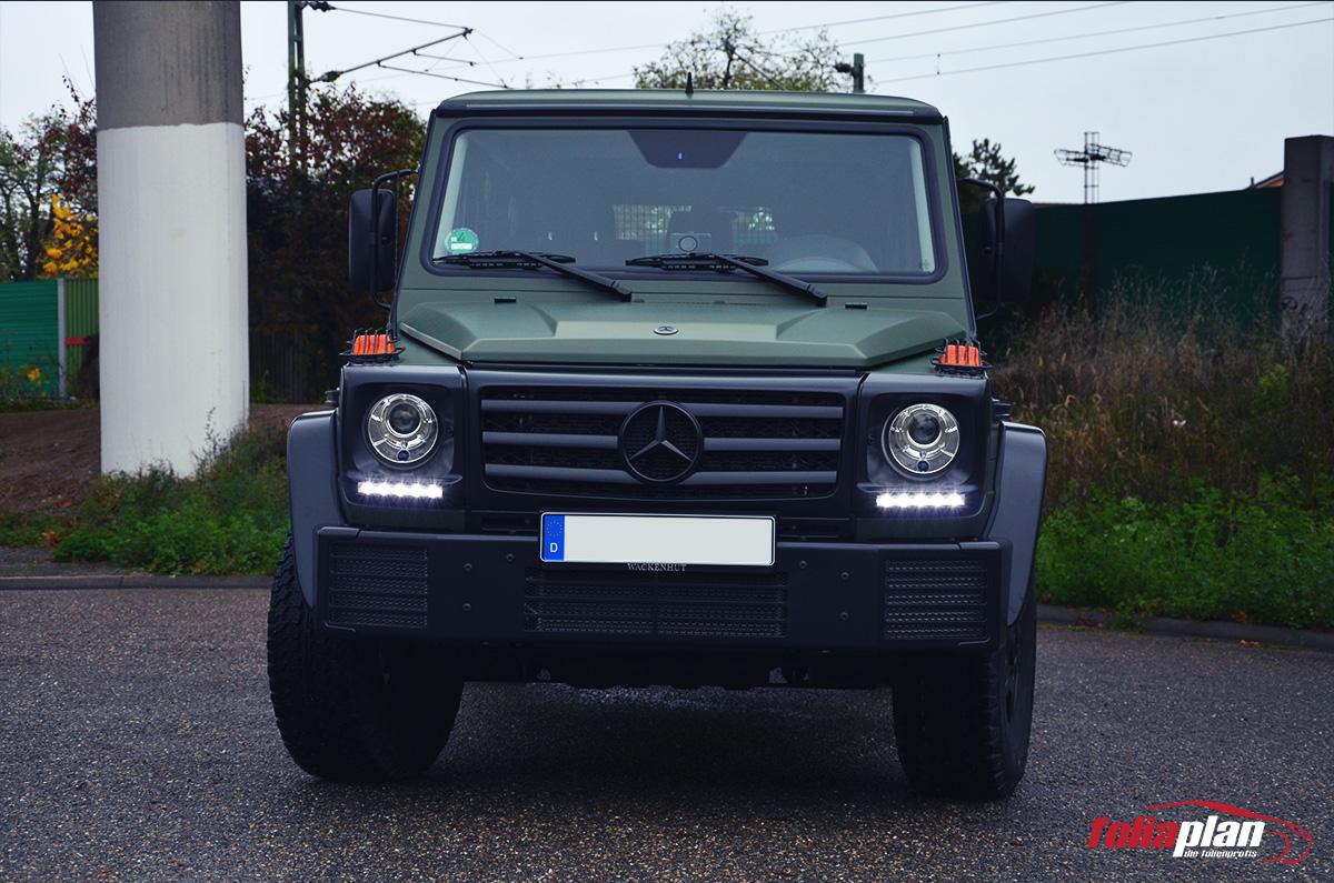 Mercedes-Bens G Military folierung foliaplan