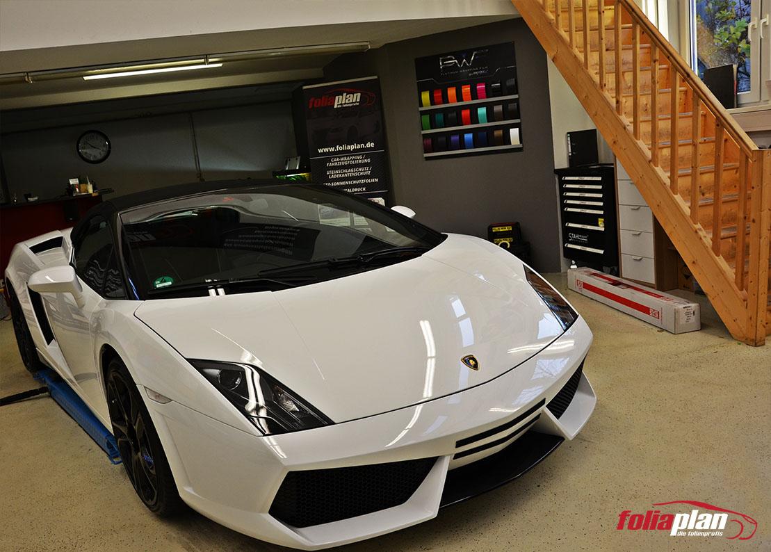 Lamborghini Gallardo Weiß folierung foliaplan