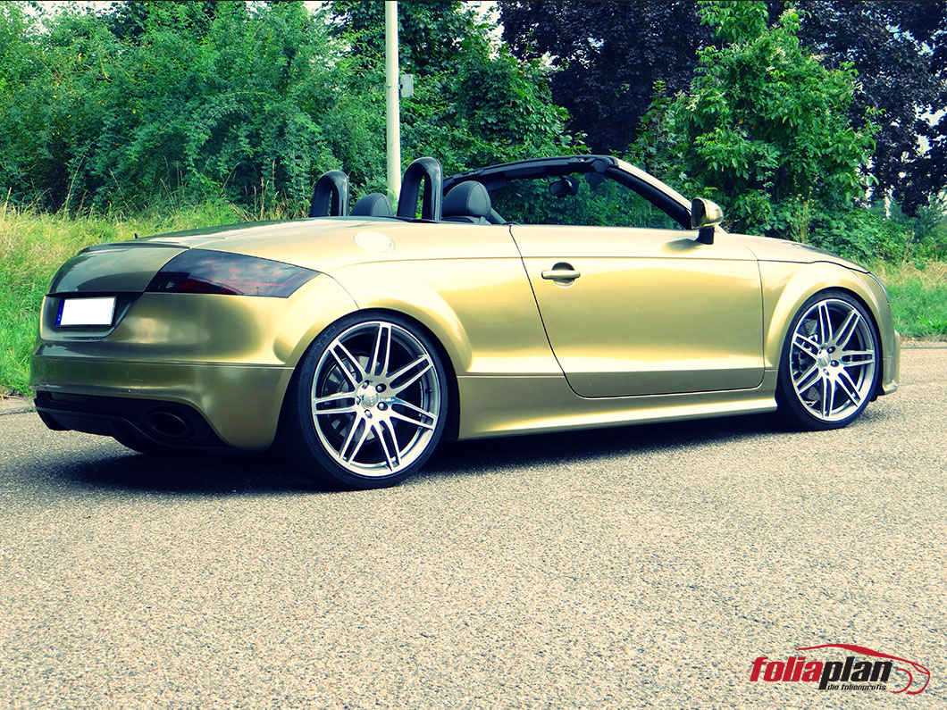 Audi TT Army Gold folierung foliaplan