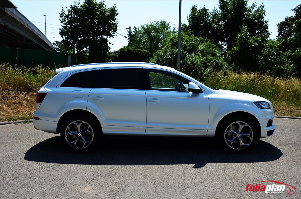 Audi Q7 Pearl White folierung foliaplan