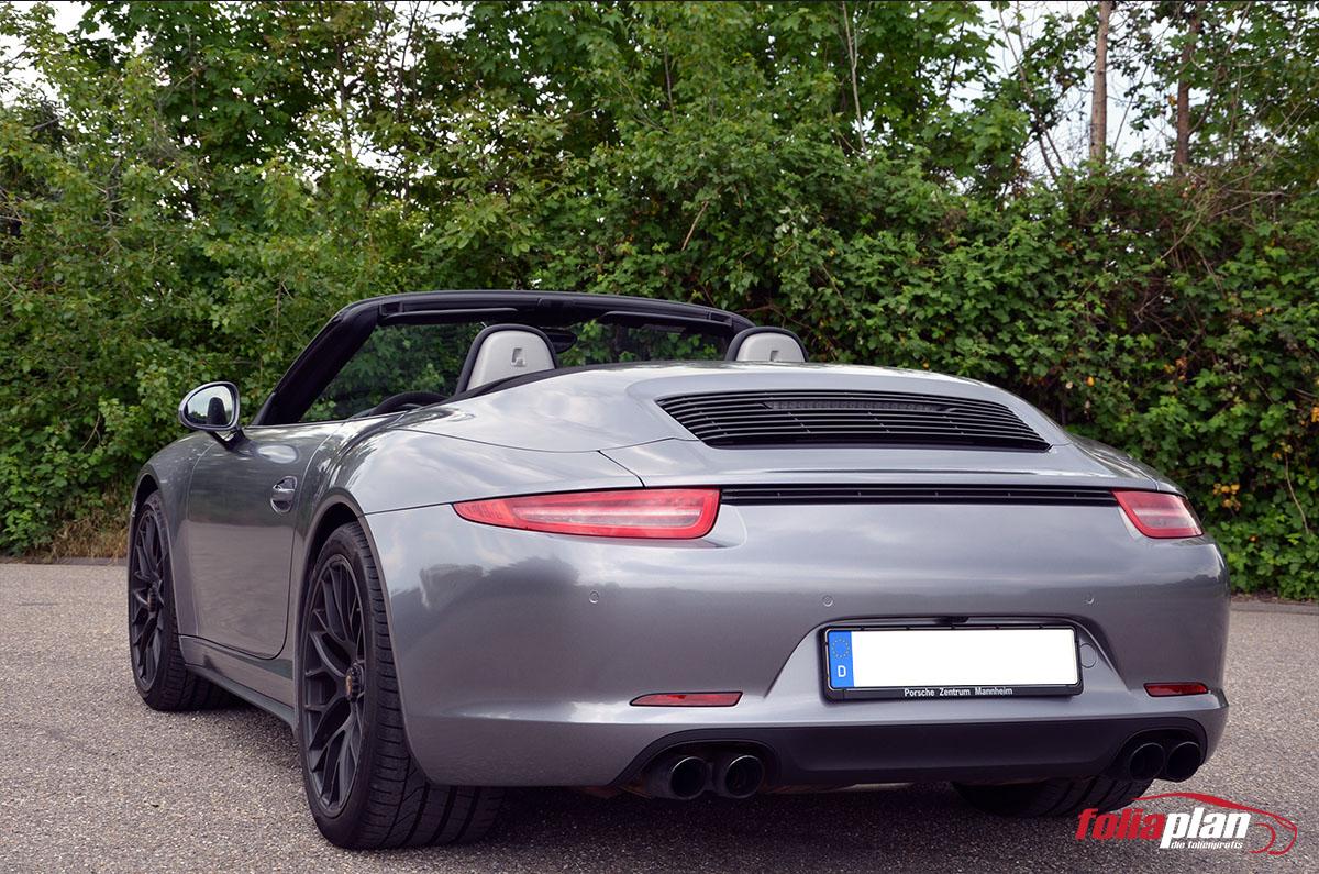 Porsche 911 Anthrazit Glanz folierung foliaplan