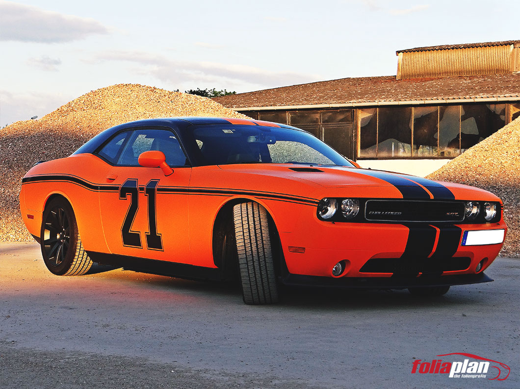 Dodge Charger Orange folierung foliaplan