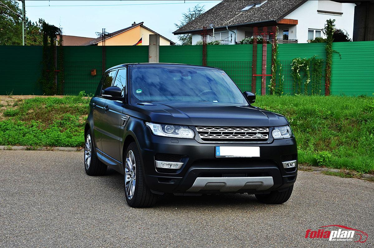 Range Rover Sport Schwarz Matt folierung foliaplan