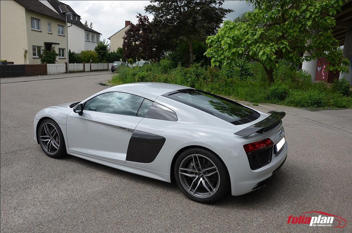 Audi R8 Grau folierung foliaplan