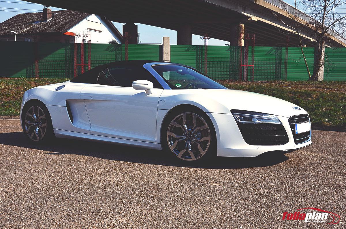 Audi R8 V10 in Weiß folierung foliaplan