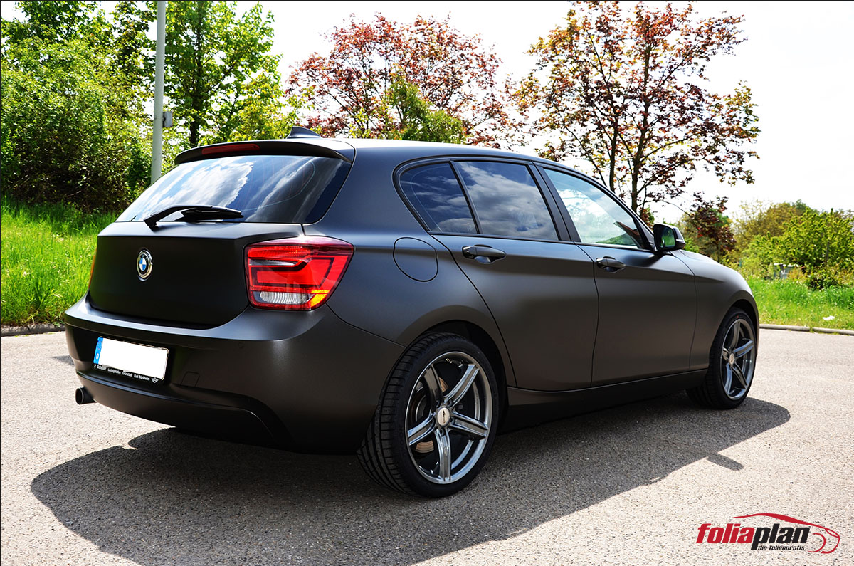 BMW 135i Matt Diamond Black folierung foliaplan