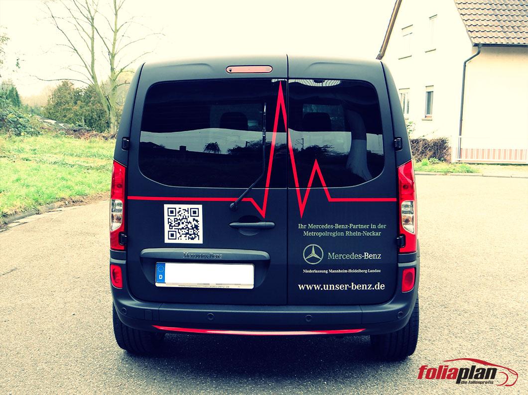 Mercedes-Benz Citan Matt folierung foliaplan