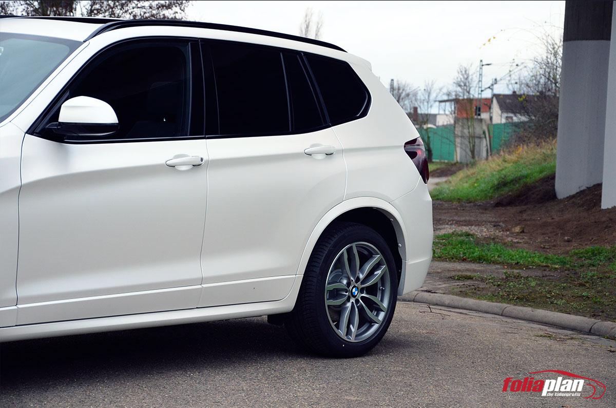 BMW X3 Sonnenschutzfolie folierung foliaplan