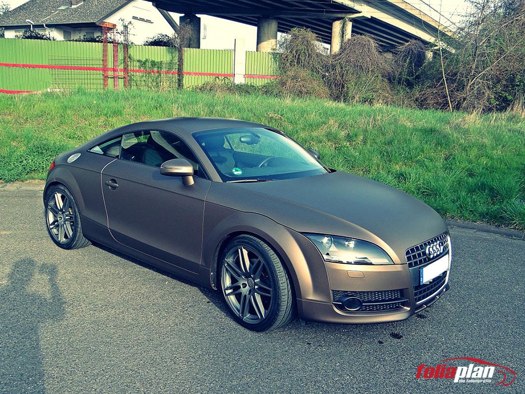 Audi TT Braun Matt folierung foliaplan