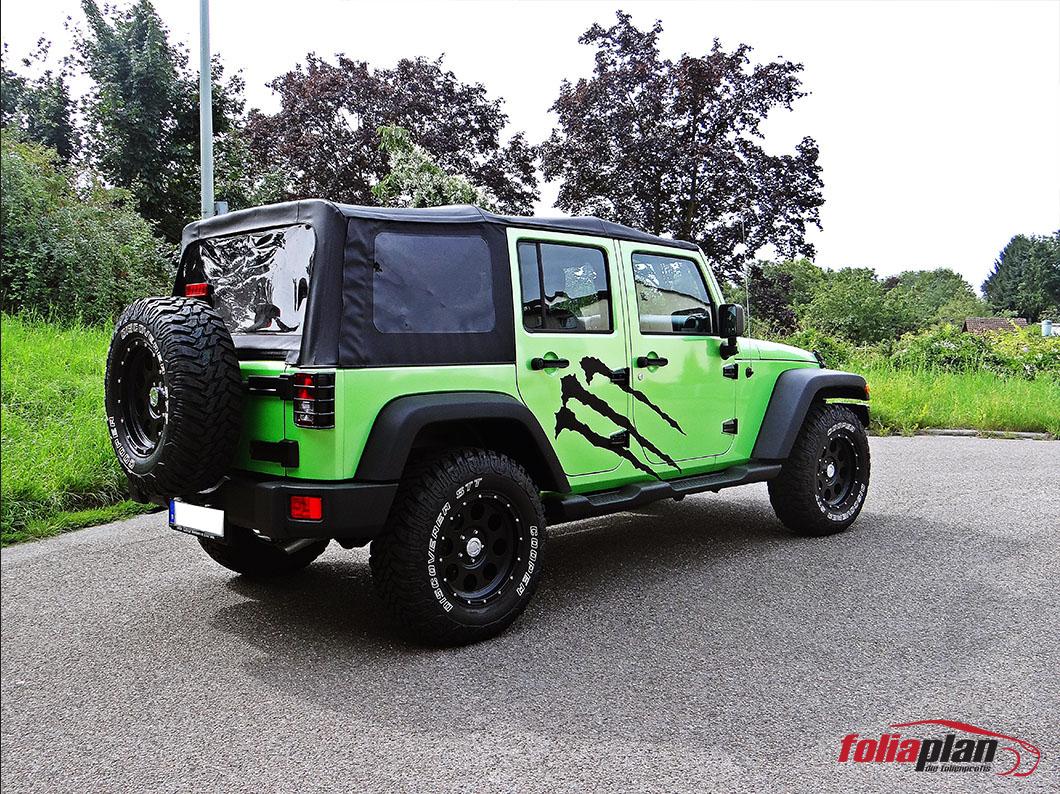 Jeep Wrangler Monster folierung foliaplan