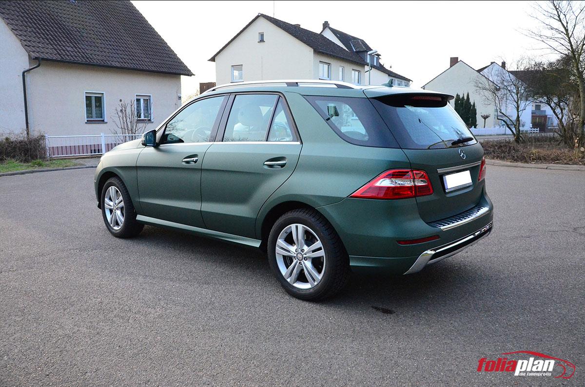 Mercedes-Benz ML450 Grün Matt folierung foliaplan
