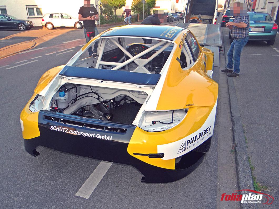Porsche 911 Sport folierung foliaplan