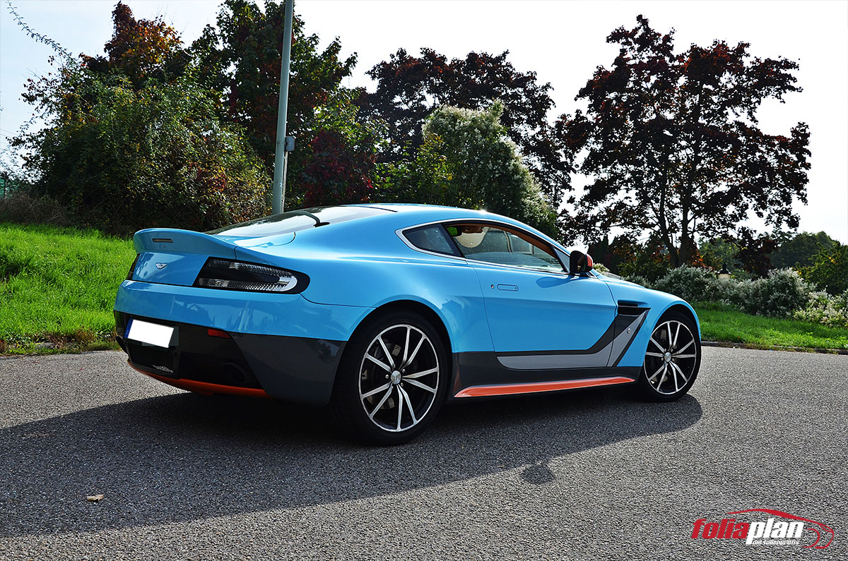 Aston Martin V8 Vantage Race folierung foliaplan